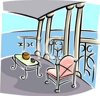 Balcony 20clipart clipart panda free clipart images for 4758 setting sun terrace
