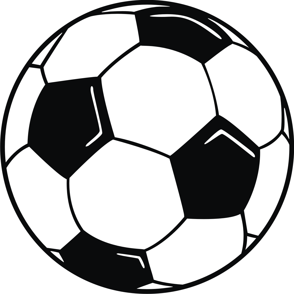 Line Drawing Football : Soccer ball clipart panda free images