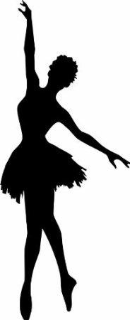 Ballet Silhouette Style 27 - Black | Dancer silhouette |Pretty Girl Dance Stencil