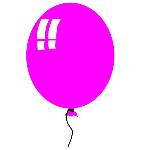 Pink birthday balloons clipart clipart panda free clipart images