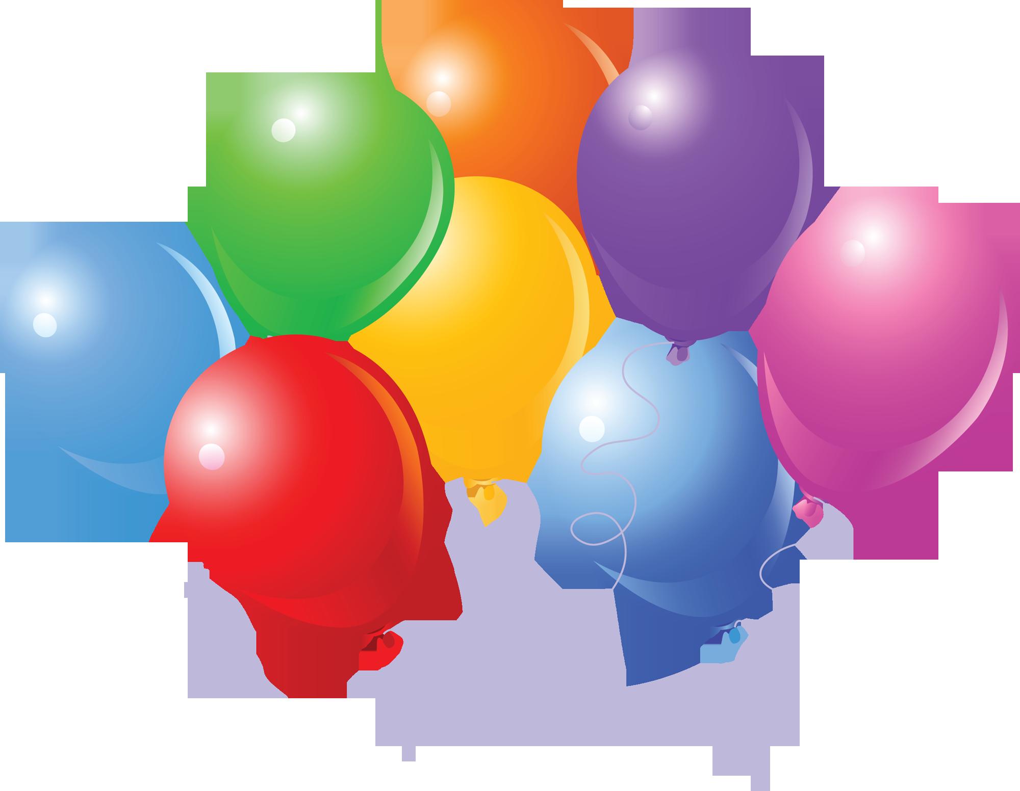 Helium Balloons Birthday Cake