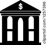 Bank Clipart Black And White Piggy Bank With Dollar Coin Free