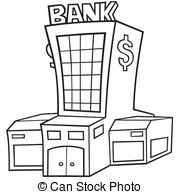Bank Black And White Cartoon Clipart Panda Free Clipart Images