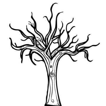 Bare Tree Coloring Page Clipart Panda Free Clipart Images