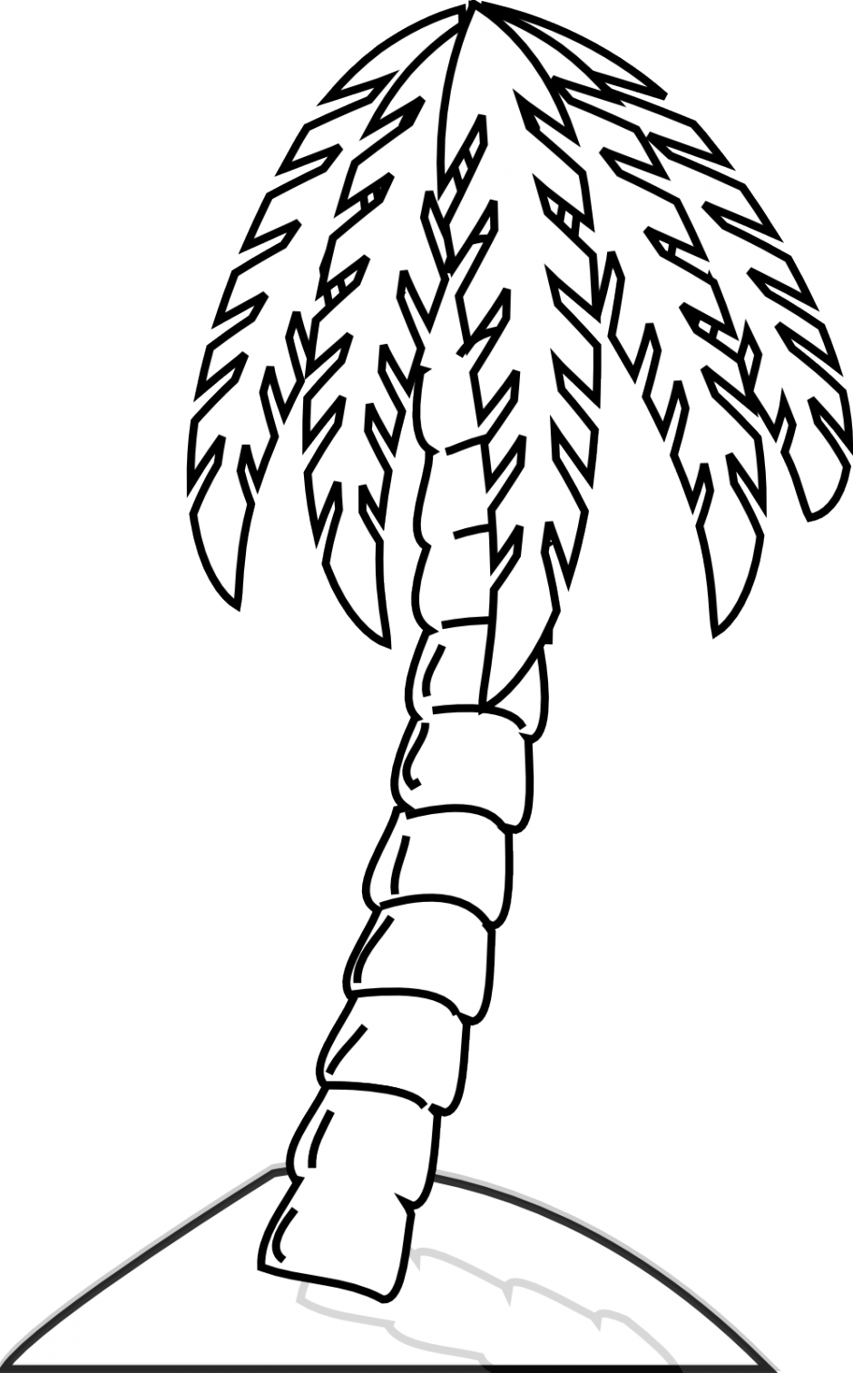 Palm Tree Leaves Coloring Pages  Coloring Pages For Kids and All Ages