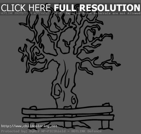 bare20tree20coloring20page - Bare Tree Coloring Pages Printable
