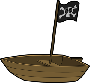 Pirate Flag Boat clip art