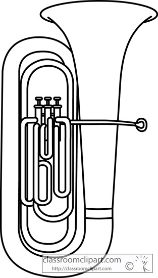 how to draw a tuba
