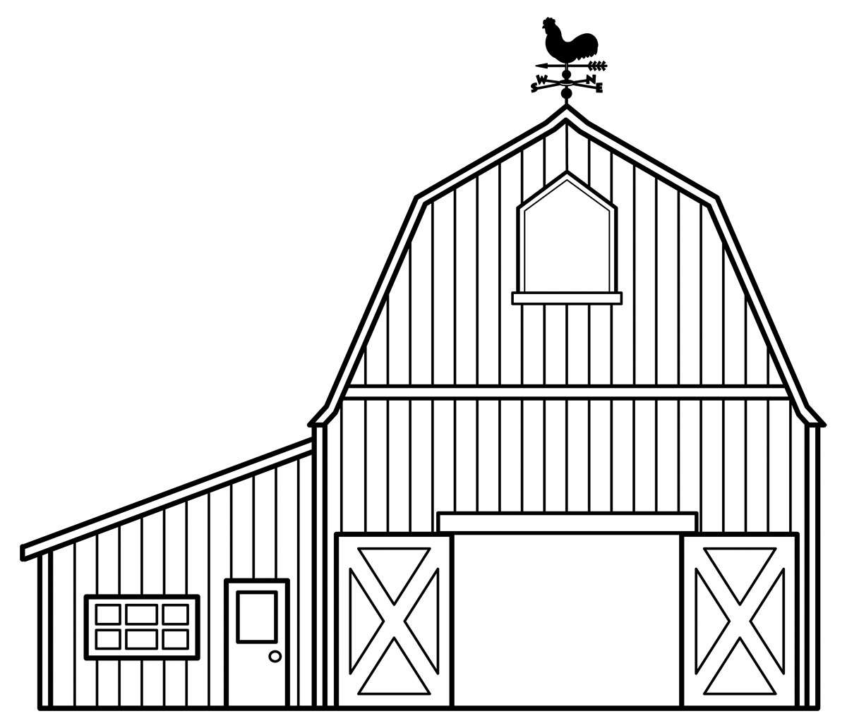 Barn Line Drawing Barn Clip Art