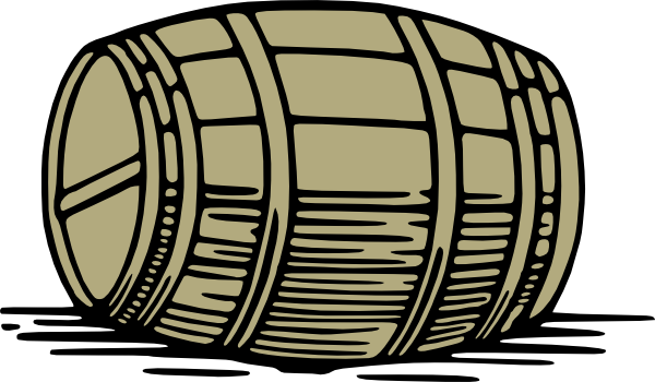 Large Barrel clip art is free