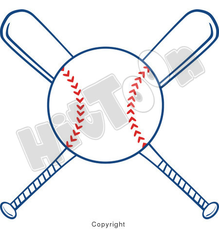 baseball-ball-and-bat-clip-art-1243835-clipart-of-crossed-baseball ...