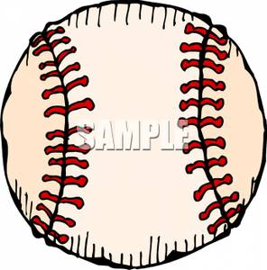 Flying Baseball Ball Clipart