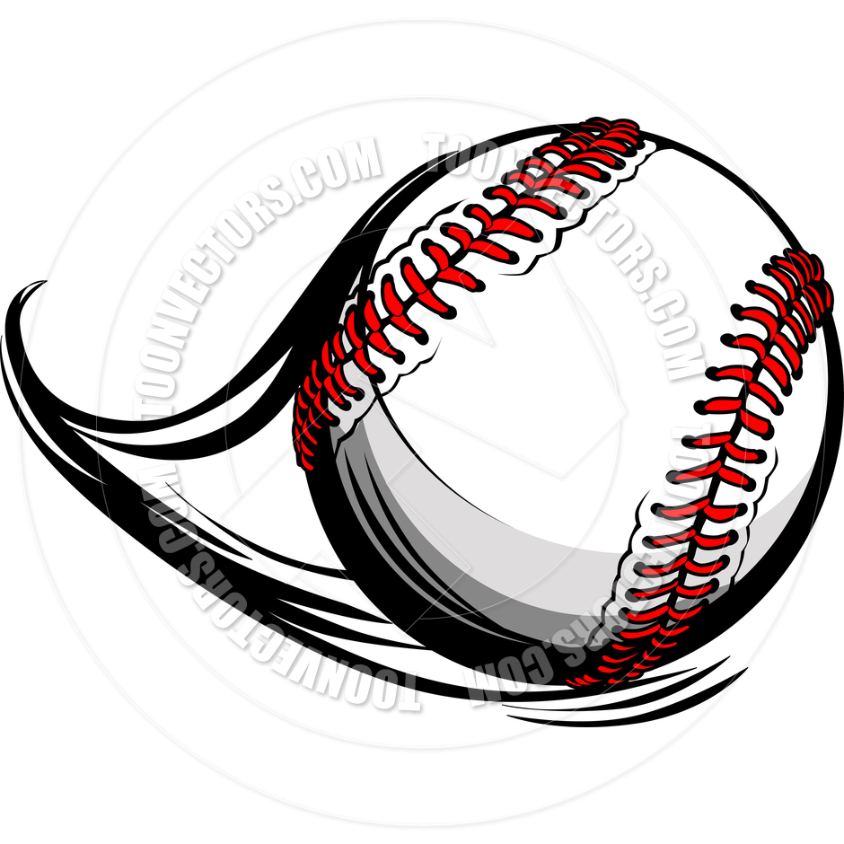 Baseball ball vector clipart panda free clipart images for Softball vector free