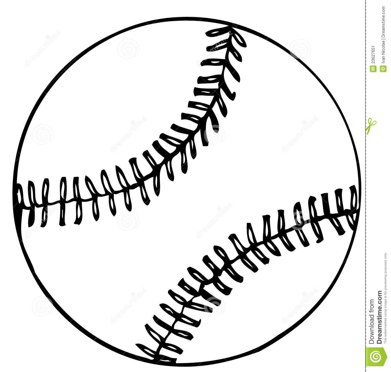 Baseball Ball Vector Clipart