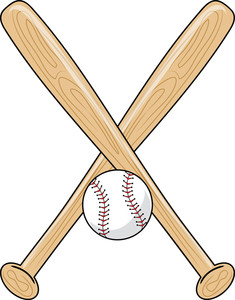 Clip Art Clipart Baseball Bat crossed baseball bat clipart panda free images