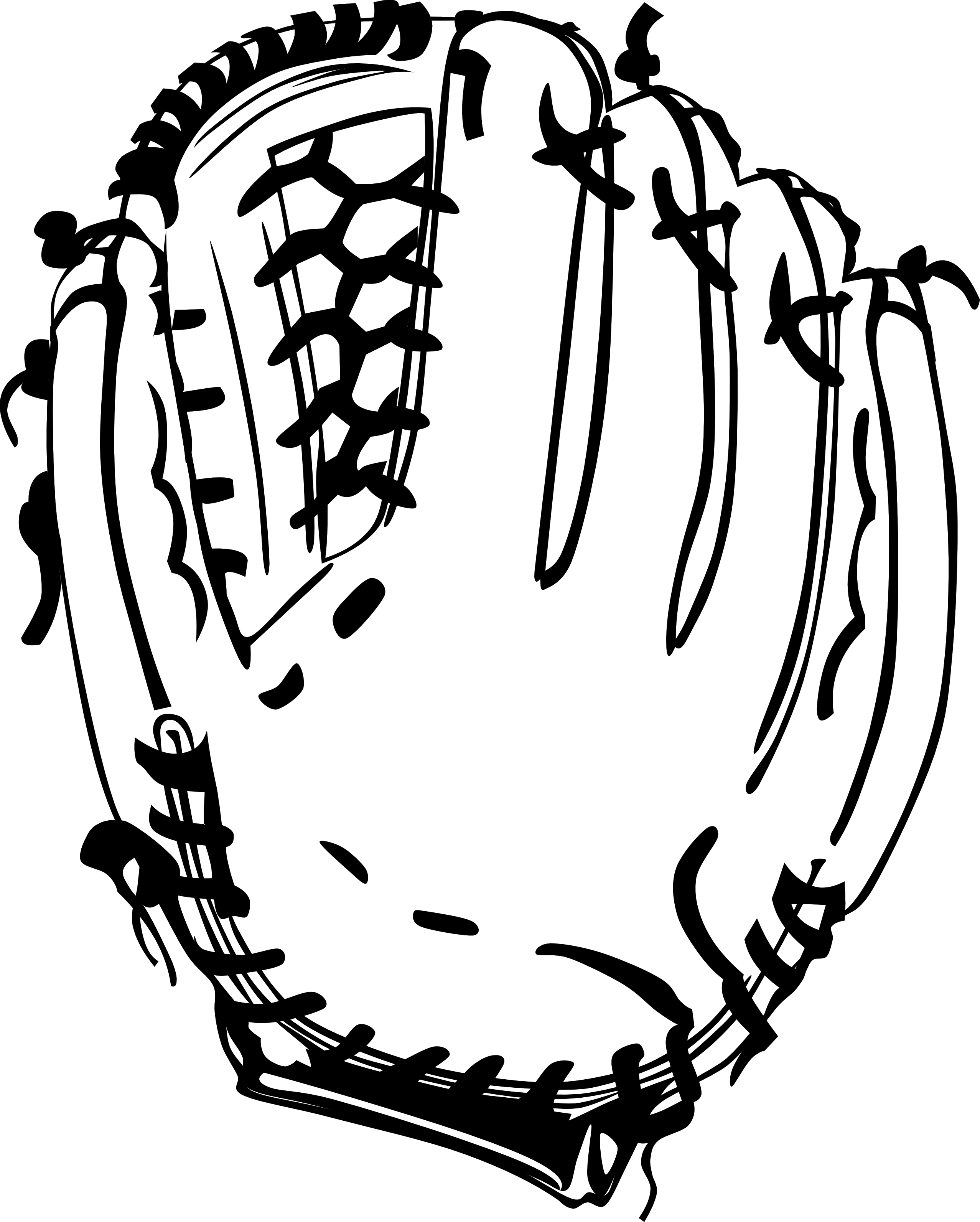 baseball glove clipart black and white clipart panda