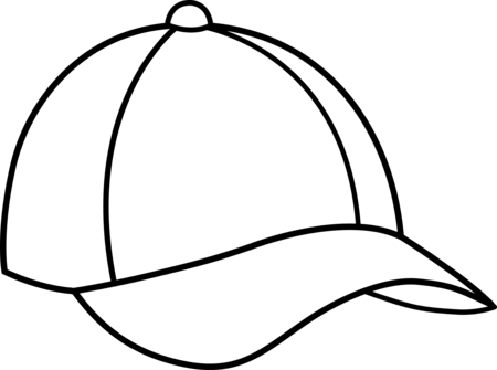 Baseball Hat Clipart on Summer Clothes Coloring Clipart