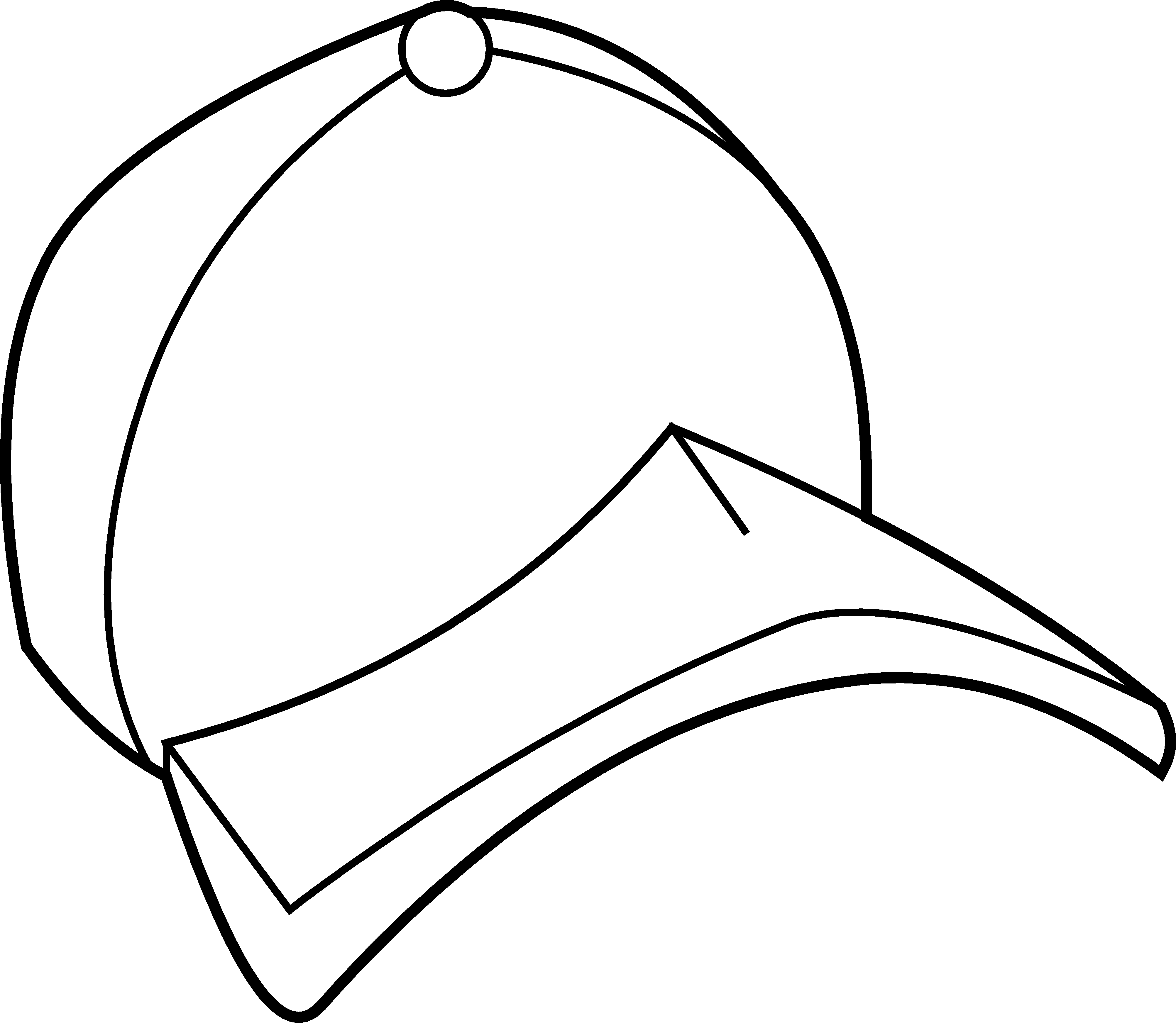 Line Drawing Hat : Baseball hat clipart black and white panda