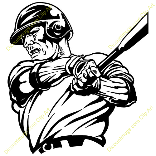 free clipart of a baseball player - photo #16