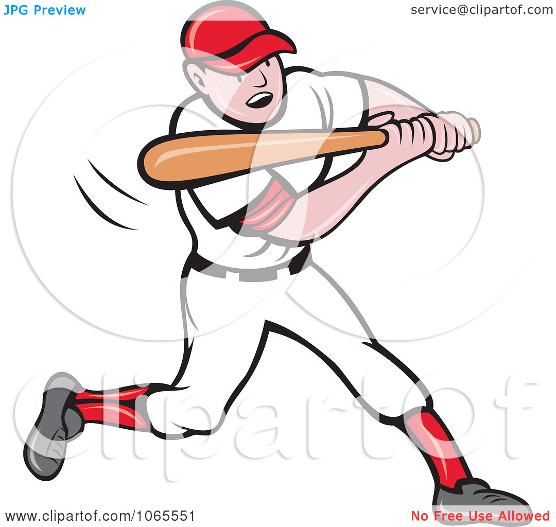 Baseball Player Clipart Batting Royalty Free Vector Illustration Running Panda