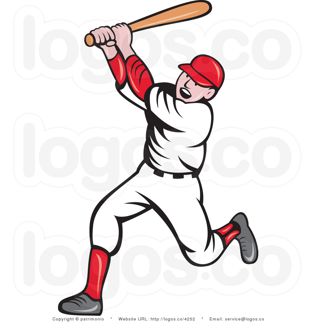 free clipart of a baseball player - photo #15