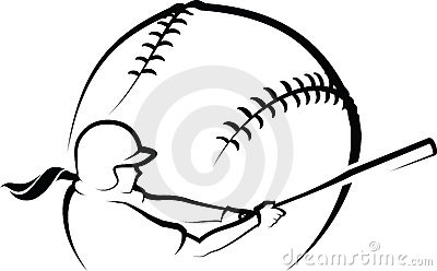 baseball 20player 20clipart  Softball Clip Art Black And White
