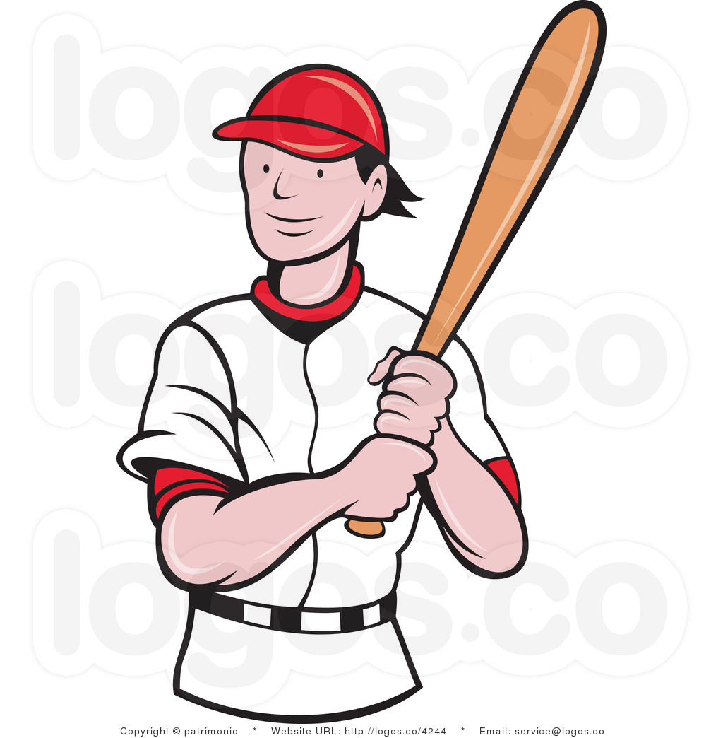 the gallery for gt baseball player clip art