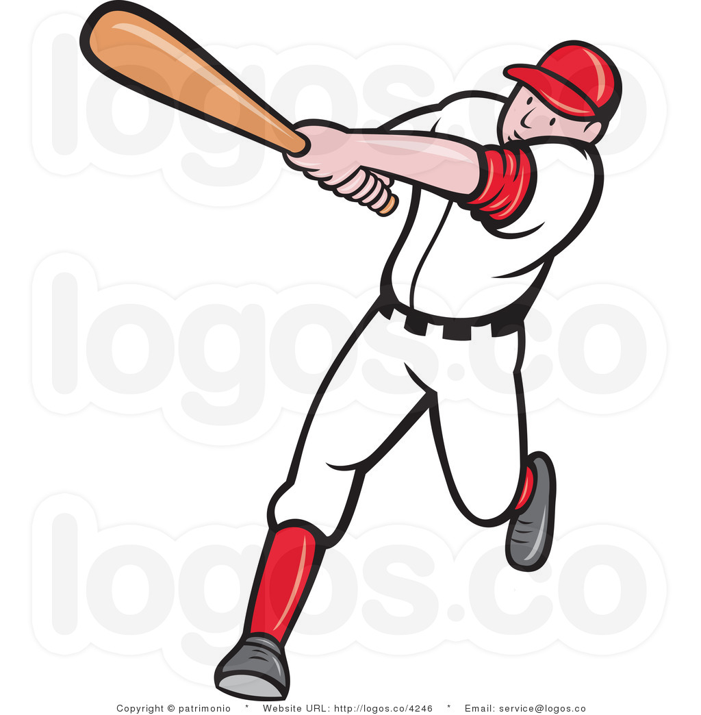 free clipart of a baseball player - photo #7