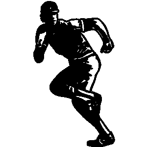 Baseball Player Running Clip Art