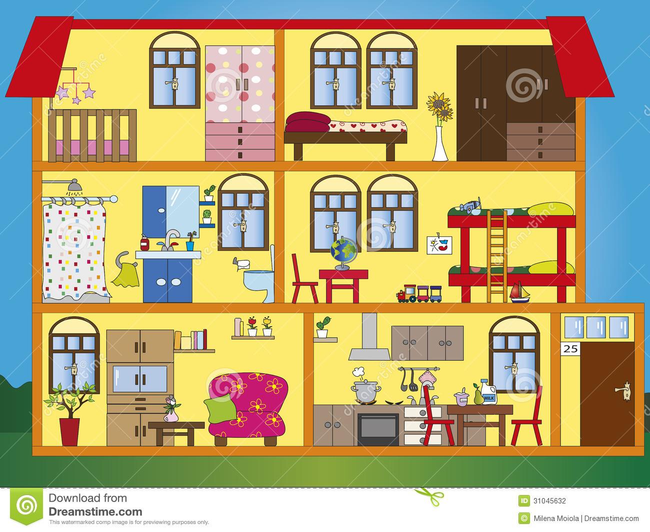 House design cartoon - Fantastic 25 Home Interior Design Cartoon Photos