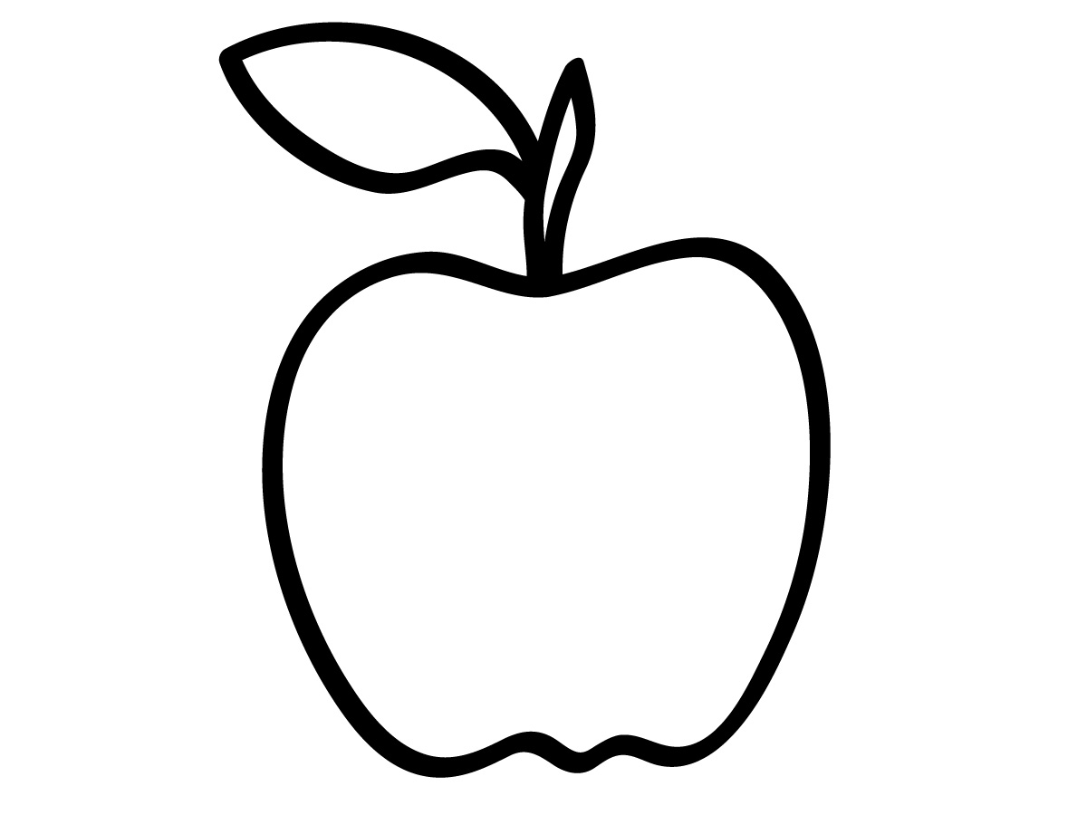 Line Art Of Apple : Apple clipart black and white panda free