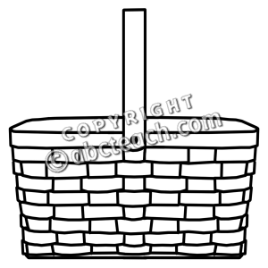Picnic Basket Clip Art Black And White | Clipart Panda - Free ...