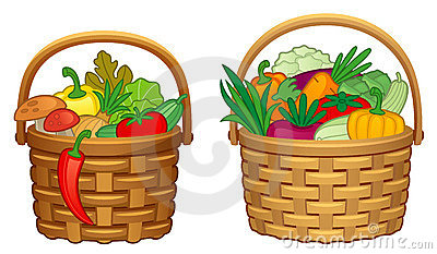 Basket Of Vegetables Clipart