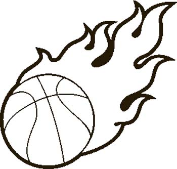 basketball with flames coloring pages - photo#8