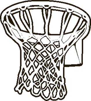 Basketball Hoop Clipart Black And White Clipart Panda Free