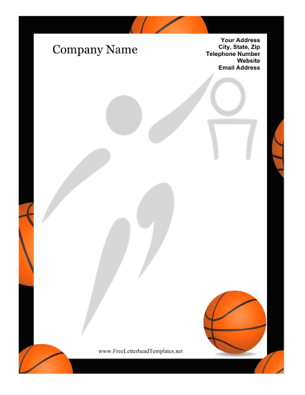 Basketball Border For Microsoft Word – Word Document Border Templates