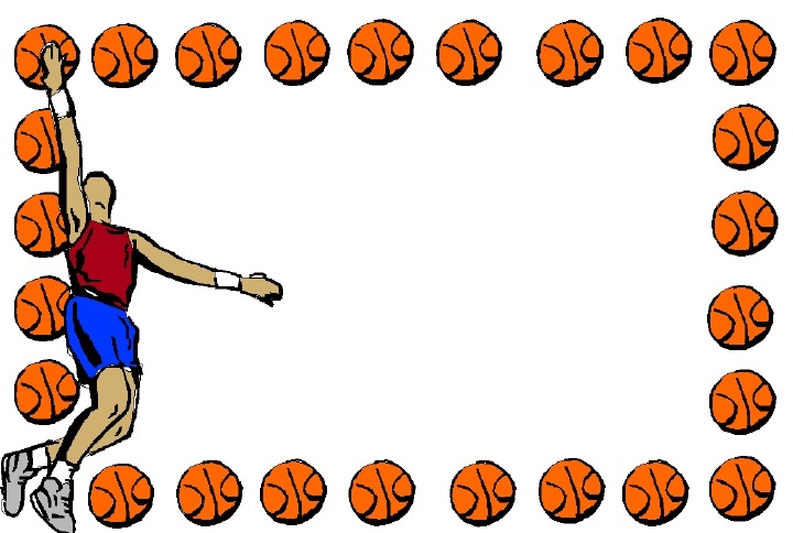 basketball borders and frames clipart panda free clipart images rh clipartpanda com Basketball Border Templates baseball border clip art free
