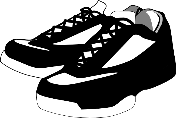 Clip Art Tennis Shoe Clip Art tennis shoes clipart black and white panda free