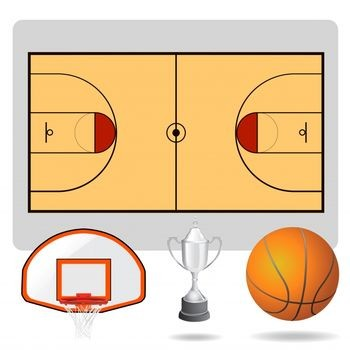 Basketball half court diagram