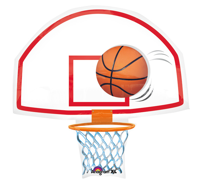 Basketball hoop side view graphic black and white png
