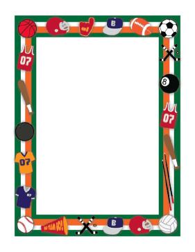 Sports Border page border | Clipart Panda - Free Clipart ...