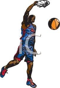 Basketball Player Dunking Clipart Panda Free