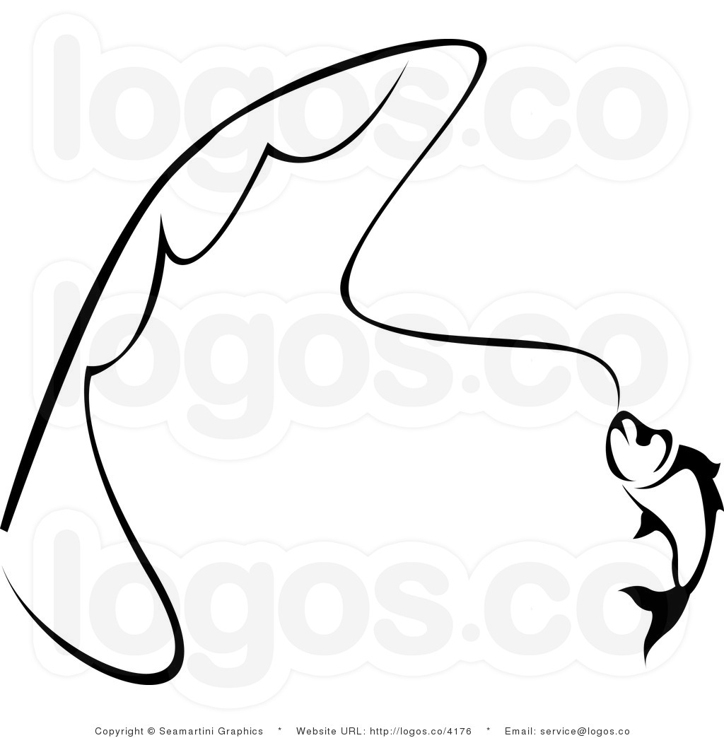 Line Art Fish : Bass fish clip art black and white clipart panda free