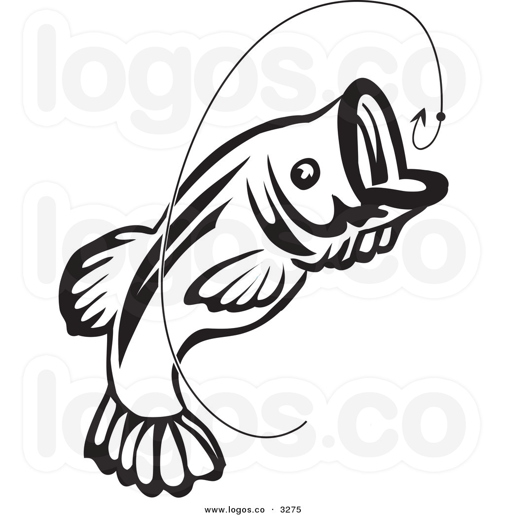 bass fish clip art black and white clipart panda free clipart images rh clipartpanda com Largemouth Bass Drawings Easy Fish Clip Art Black and White