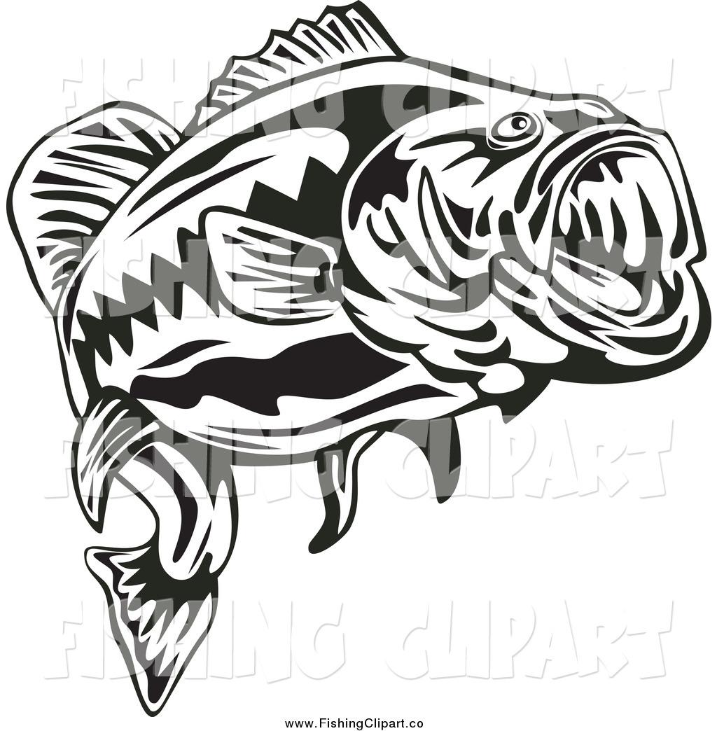 largemouth bass clip art - photo #37