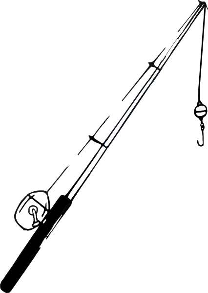 fishing pole coloring page - fishing pole clip art vector clipart panda free