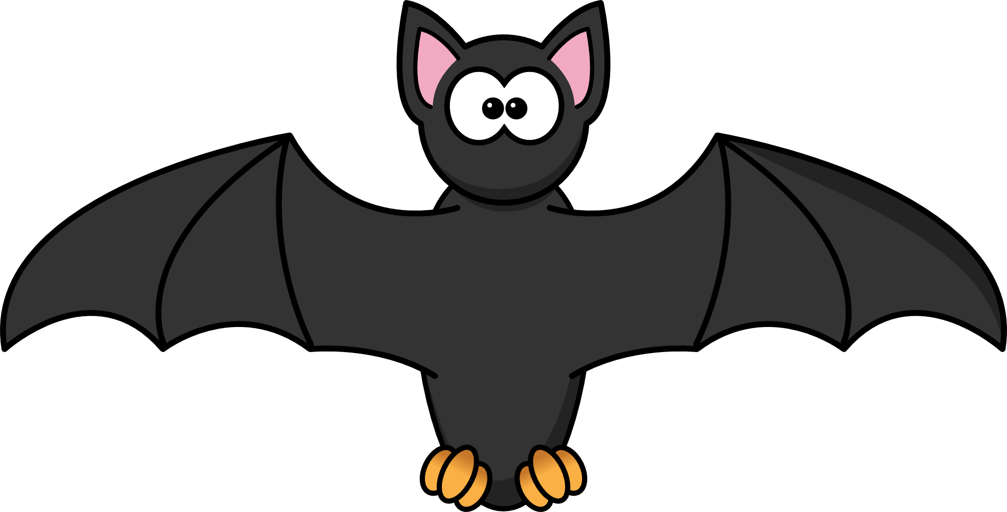 bat clipart clip cartoon chauve souris panda designs