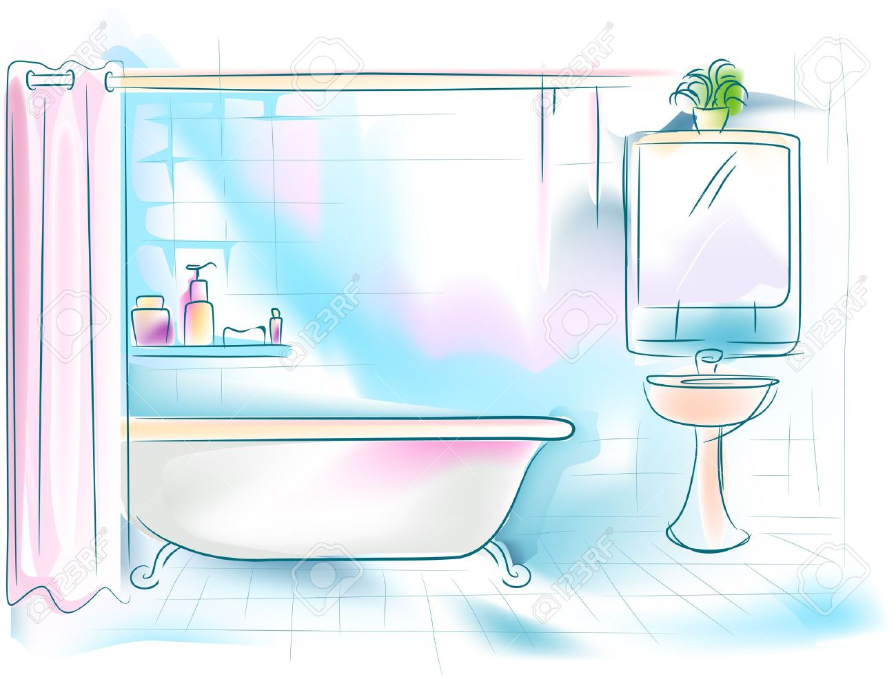 Bathroom Clipart For Kids
