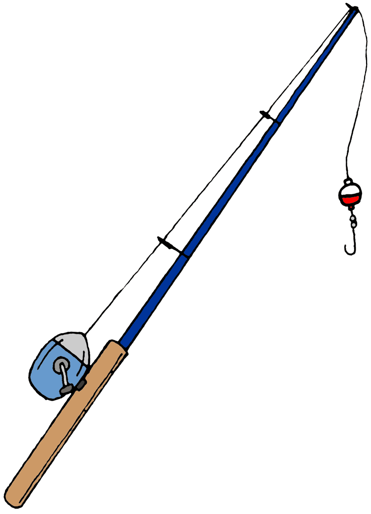 Fishing Pole Black And White | Clipart Panda - Free Clipart Images