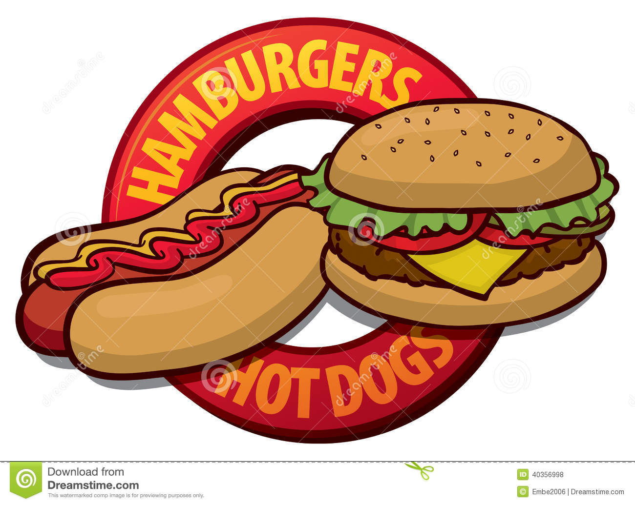 Hotdog And Hamburger Clipart | Clipart Panda - Free ...